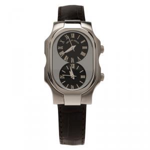 Philip Stein Silver Stainless Steel Teslar Women's Wristwatch 26MM