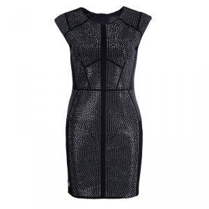 Philipp Plein Black Studded Short Sleeve Dress M