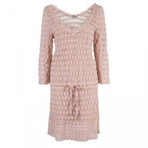 Philosophy di Alberta Ferretti Pink Lace Shift Dress M