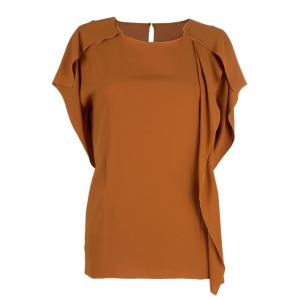 Philosophy di Alberta Ferretti Orange Asymmetric Top M