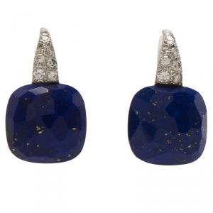 Pomellato Capri Diamond & Lapis Lazuli White Gold Drop Earrings