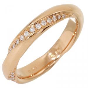 Ponte Vecchio 0.22ct Diamond Rose Gold Ring Size 53