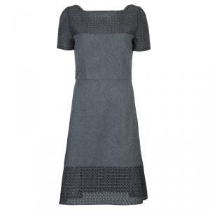Prabal Gurung Grey Wool Dress M