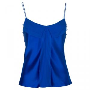 Prabal Gurung Blue Silk Cami Top M