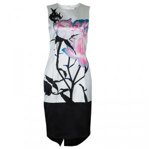 Prabal Gurung White Digital Floral Print Sleeveless Dress M