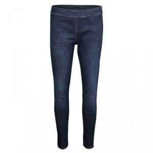 Prada Indigo Dark Wash Faded Effect Denim Skinny Jeans S/M