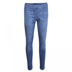 Prada Indigo Light Wash Faded Effect Denim Skinny Jeans S/M