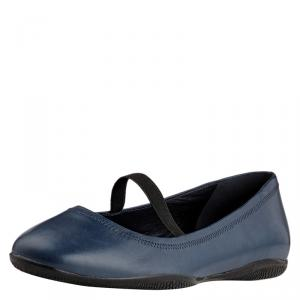 Prada Sport Blue Leather Mary Jane Ballet Flats Size 39