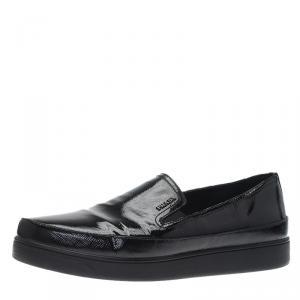 Prada Sport Black Patent Skate Sneakers Size 39.5