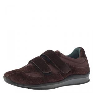 Prada Sport Brown Suede Velcro Sneakers Size 38.5