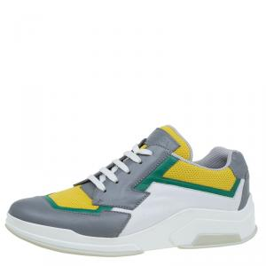 Prada Sport Multicolor Leather and Mesh Lace Up Sneakers Size 39.5