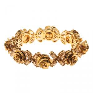 Prada Rose Gold Tone Crystal Resin Bracelet