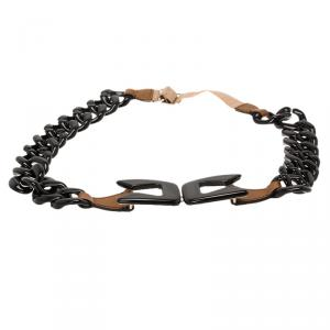 Prada Black Plastic Chain Belt 90 CM