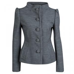 Prada Grey Wool Button Front Jacket S