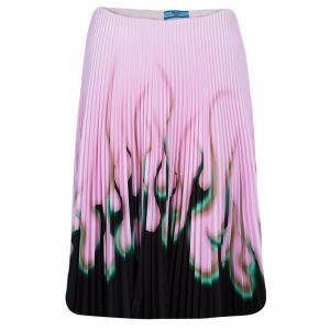Prada Pink Print Pleat Skirt S