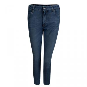 Prada Indigo Washed Denim Skinny Jeans M