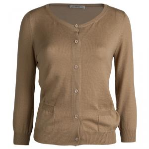 Prada Brown Button Front Cardigan L