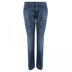 Prada Indigo Washed Denim Boot Cut Jeans M