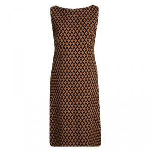 Prada Multicolor Diamond Print Sleeveless Dress M