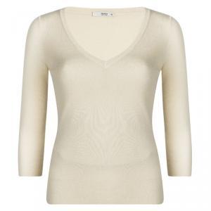 Prada Cream V-Neck Sweater M