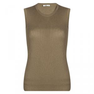 Prada Brown Sleeveless Sweater M