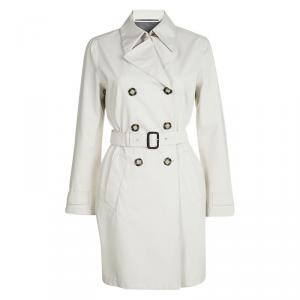 Prada Beige Double Breasted Belted  Trench Coat M
