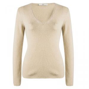 Prada Brown V-Neck Sweater S