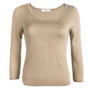 Prada Brown Crewneck Sweater S