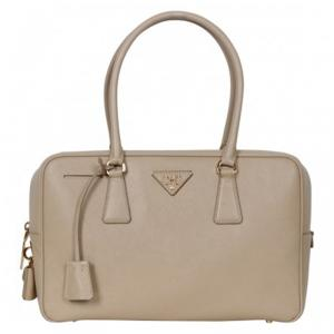 Prada Beige Sabbia Saffiano Lux Leather Executive Tote Bag