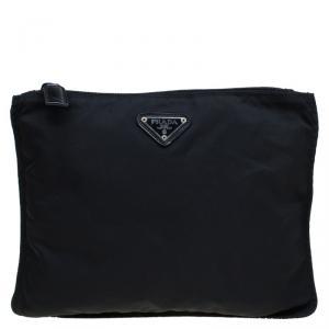 Prada Black Nylon Cosmetic Pouch