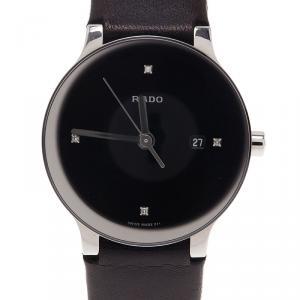 Rado Black Satinless Steel Centrix Jubile Women's Wristwatch 28MM
