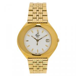 Rama Swiss White Gold-Plated Stainless Steel Women's Wristwatch 40MM