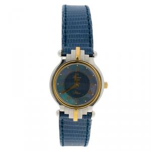 Rama Swiss Blue Mother of Pearl Stainless Steel Women's Wristwatch 24MM