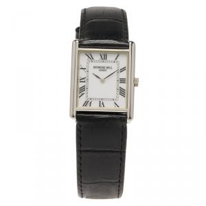 Raymond Weil White Stainless Steel Classic Unisex Wristwatch 24MM