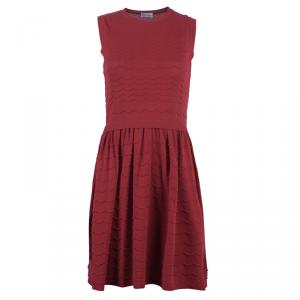 RED Valentino Red Drop Waist Knit Dress S