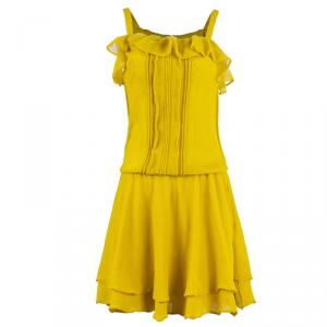 RED Valentino Yellow Drop Waist Dress M