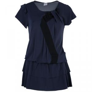 Red Valentino Blue Bow Detail Tunic Top S