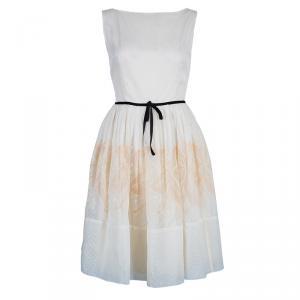 RED Valentino White Organza Flare Dress M