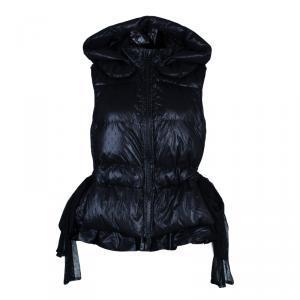 Red Valentino Black Sleeveless Puffer Jacket M