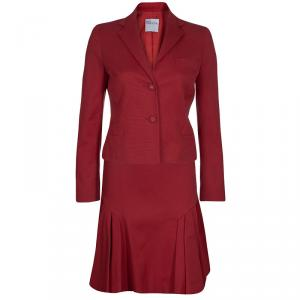 Red Valentino Red Skirt Suit S