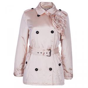 RED Valentino Blush Pink Rosette Nylon Jacket M