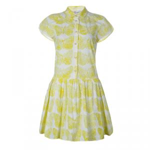 RED Valentino Yellow Butterfly Print Dress M