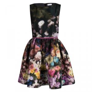 Red Valentino Multicolor Floral Printed Sleeveless Dress S