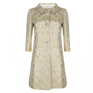 Red Valentino Beige Floral Jacquard Overcoat S