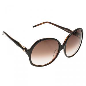 Roberto Cavalli Dark Brown Bougainvillea Square Sunglasses