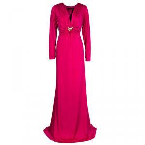 Roberto Cavalli Pink Jersey Gown XL