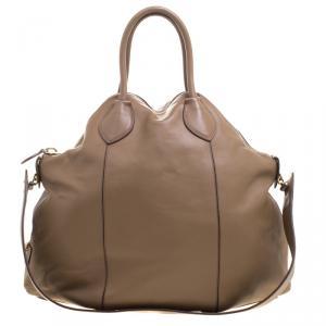 Roberto Cavalli Brown Leather Goa Satchel