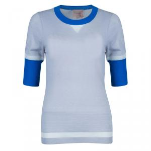 Roksanda Ilincic Grey Short Sleeve Sweater S