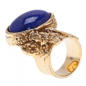 Saint Laurent Paris Gold Arty Ring Size 60