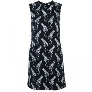 فستان سان لوران باريس طباعة مسدسات بدون أكمام واسع S
